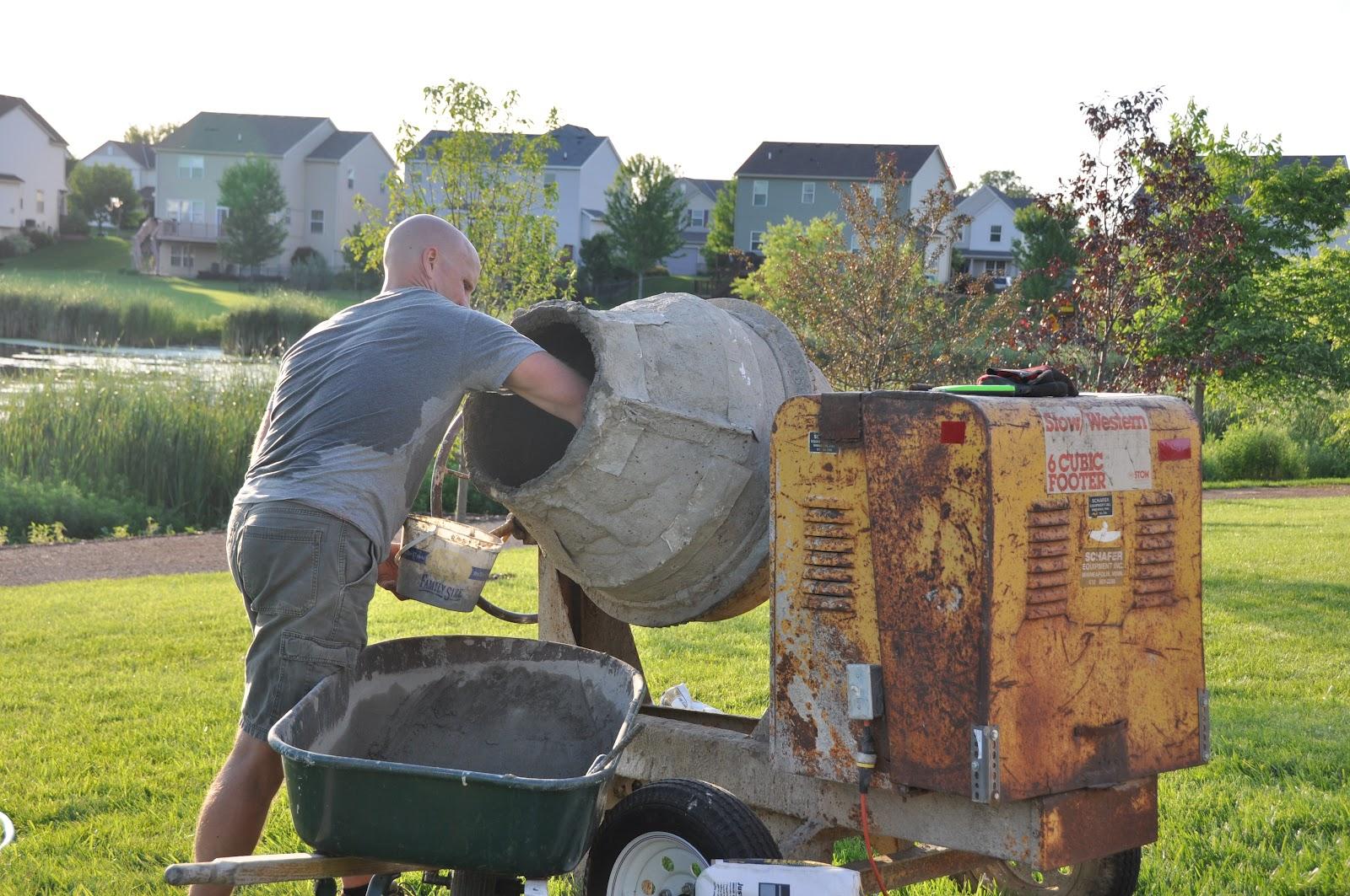 Cement Mixers Make Task Easier